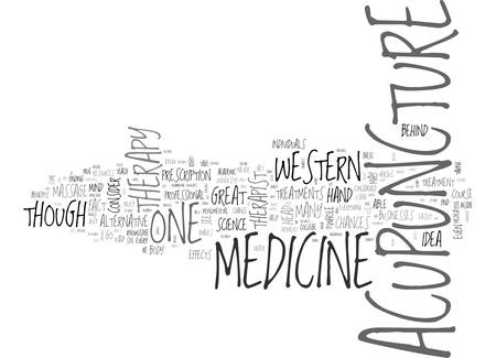 ACUPUNCTURE VERSUS WESTERN MEDICINE TEXT WORD CLOUD CONCEPT