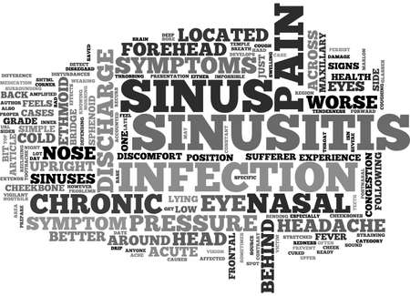 ACUTE AND CHRONIC SINUSITIS WHAT ABOUT TEXT WORD CLOUD CONCEPT