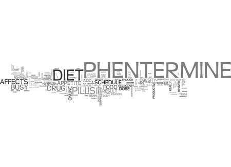 prescribed: ADD PHENTERMINE TO YOUR BUSY SCHEDULE TEXT WORD CLOUD CONCEPT