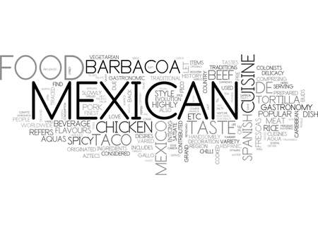 ADD SPICE TO YOUR LIFE WITH MEXICAN FOOD TEXT WORD CLOUD CONCEPT