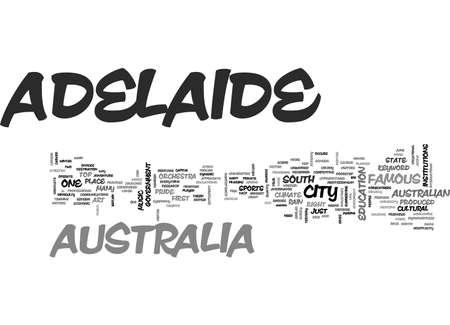 urbanized: ADELAIDE AUSTRALIA TEXT WORD CLOUD CONCEPT