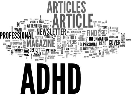 ADHD ARTICLE HELP GUIDE TEXT WORD CLOUD CONCEPT
