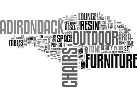 ADIRONDACK RESIN LOUNGE CHAIRS THE BEST WAY TO UPDATE ANY OUTDOOR AREA TEXT WORD CLOUD CONCEPT Illustration