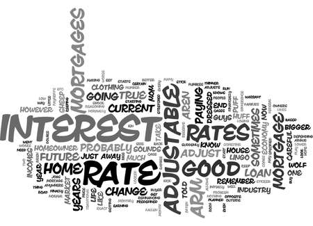 beware: ADJUSTABLE RATE MORTGAGES BUYER BEWARE TEXT WORD CLOUD CONCEPT