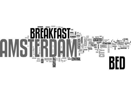 AMSTERDAM APARTMENTS TEXT WORD CLOUD CONCEPT Illusztráció