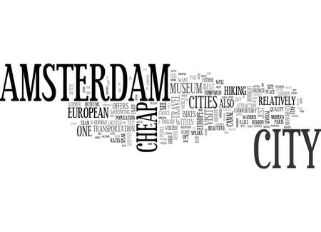 AMSTERDAM BED AND BREAKFAST TEXT WORD CLOUD CONCEPT