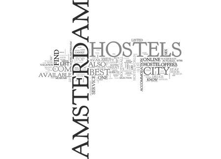 populated: AMSTERDAM HOLLAND BASIC FACTS TEXT WORD CLOUD CONCEPT