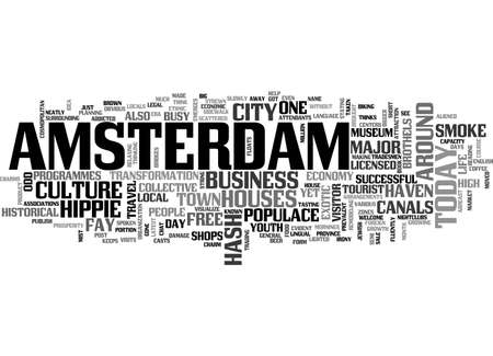 finding: AMSTERDAM WEATHER TEXT WORD CLOUD CONCEPT Illustration