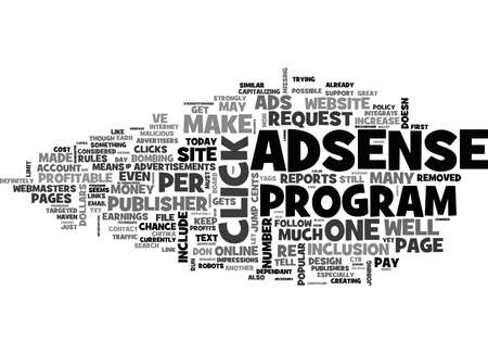ADSENSE DOESN T JUST MAKE CENTS IT MAKES DOLLARS TOO TEXT WORD CLOUD CONCEPT