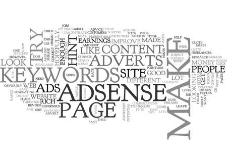 revised: ADSENSE HINTS ADVICE REVISED TEXT WORD CLOUD CONCEPT