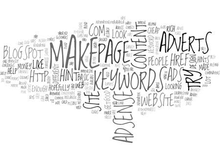 ADSENSE HINTS ADVICE TEXT WORD CLOUD CONCEPT Иллюстрация