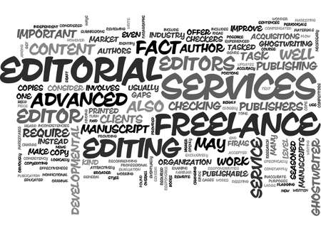 ADVANCED FREELANCE EDITORIAL SERVICES TEXT WORD CLOUD CONCEPT