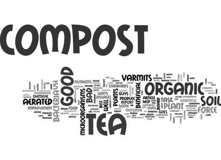 AERATED COMPOST TEA THE NEW ORGANIC FERTILIZER TEXT WORD CLOUD CONCEPT