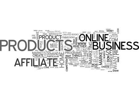 mal: AFFILIATE PRODUCTS OR CREATE YOUR OWN YOU DECIDE TEXT WORD CLOUD CONCEPT Illustration