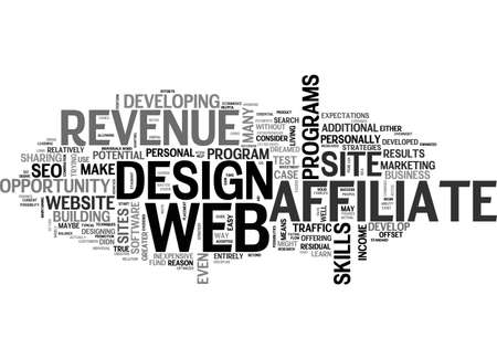 maybe: AFFILIATE REVENUE A WEB DESIGN TEST CASE TEXT WORD CLOUD CONCEPT
