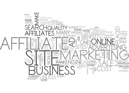 affiliates: AFFILIATES CAN DO WHAT FOR YOUR ONLINE BUSINESS TEXT WORD CLOUD CONCEPT