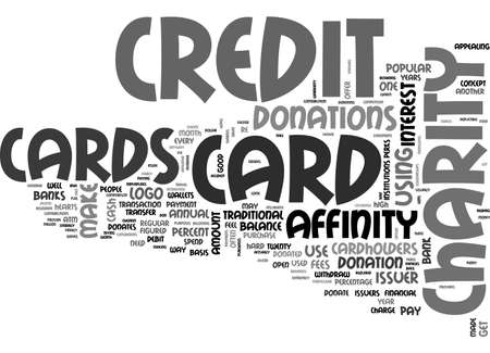affinity: AFFINITY CREDIT CARDS TEXT WORD CLOUD CONCEPT