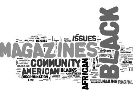 priceless: AFRICAN AMERICAN MAGAZINES TEXT WORD CLOUD CONCEPT