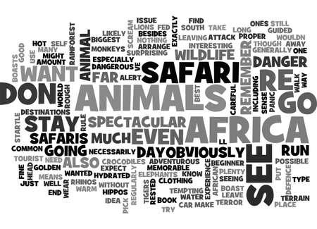 boast: AFRICAN SAFARIS BOAST SPECTACULAR WILDLIFE TEXT WORD CLOUD CONCEPT