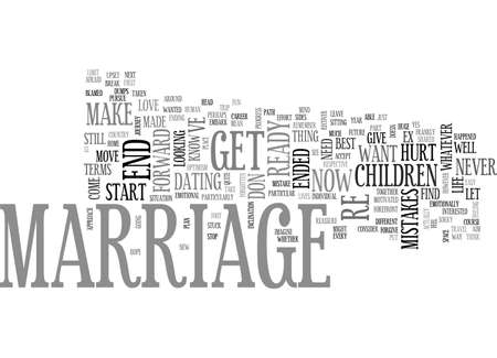 AFTER MARRIAGE PUT YOUR BEST FOOT FORWARD AFTER YOUR MARRIAGE HAS ENDED TEXT WORD CLOUD CONCEPT 向量圖像