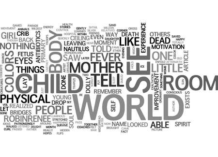 AFTERMATH OF A CHILD S NEAR DEATH EXPERIENCE TEXT WORD CLOUD CONCEPT Illustration
