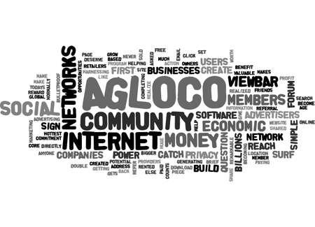 AGLOCO FORUM WEBSITE TEXT WORD CLOUD CONCEPT