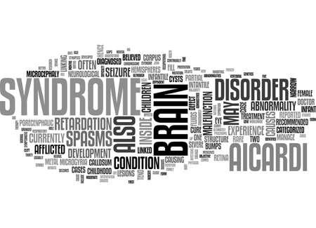 AICARDI 症候群のテキスト単語雲の概念  イラスト・ベクター素材