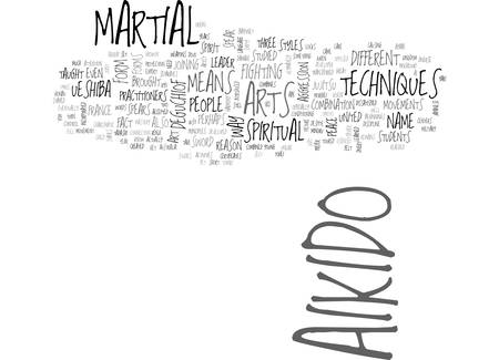 AIKIDO HISTORY TEXT WORD CLOUD CONCEPT
