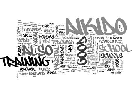 AIKIDO SCHOOL TEXT WORD CLOUD CONCEPT Illustration