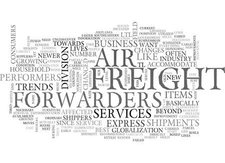 AIR FREIGHT FORWARDERS TEXT WORD CLOUD CONCEPT