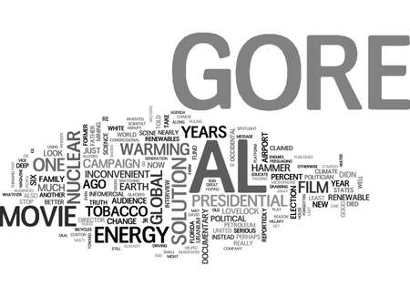 AL GORE S INCONVENIENT INFOMERCIAL A MOVIE REVIEW TEXT WORD CLOUD CONCEPT