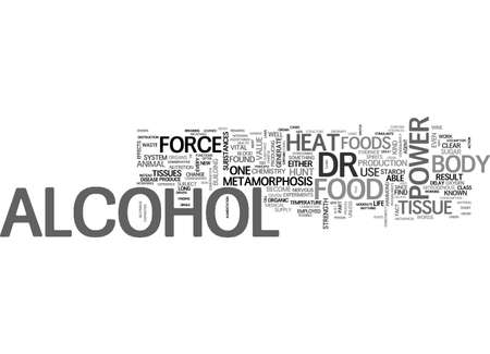 ALCOHOL HAS NO FOOD VALUE TEXT WORD CLOUD CONCEPT