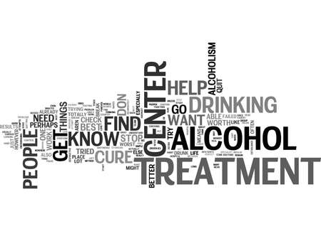ALCOHOLTREATMENTCENTERS TEXT WORD CLOUD CONCEPT Illustration