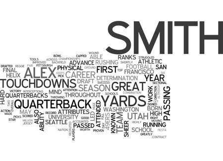 picks: ALEX SMITH DRAFT DAY PICKS TEXT WORD CLOUD CONCEPT Illustration