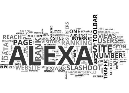 ALEXA の交通ランクだとなぜあなたはシュッドケアまたはテキスト単語の雲概念はないです。