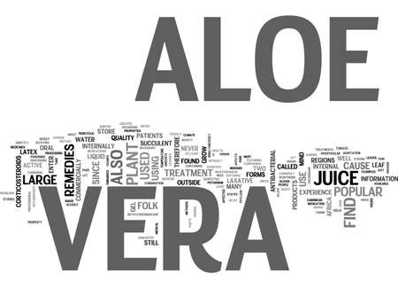 ALOE VERA SKIN CARE THE MIRACLE CURE TEXT WORD CLOUD CONCEPT