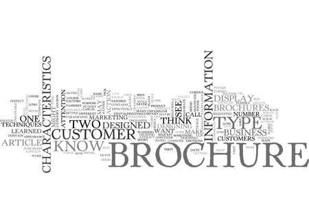 BASIC BROCHURE DESIGN IN TWO TEXT WORD CLOUD CONCEPT