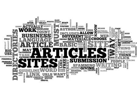 BASIC GUIDELINE ABOUT ARTICLE DIRECTORIES TEXT WORD CLOUD CONCEPT