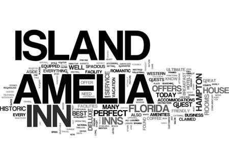AMELIA ISLAND HOTELS TEXT WORD CLOUD CONCEPT