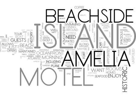 AMELIA ISLAND INN TEXT WORD CLOUD CONCEPT