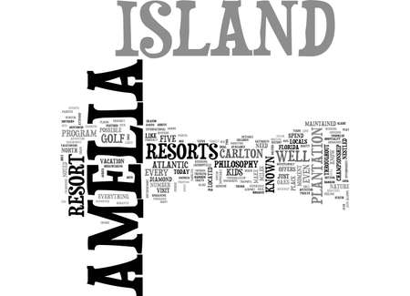 AMELIA ISLAND MOTEL TEXT WORD CLOUD CONCEPT