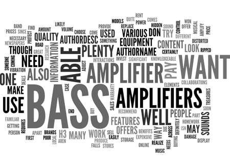 BASS AMPLIFIERS TEXT WORD CLOUD CONCEPT