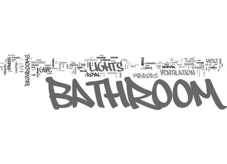 욕실 디자인 팁 텍스트 단어 구름 개념 일러스트