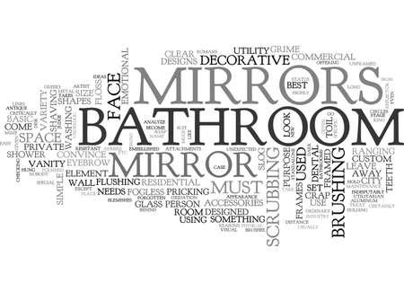 slog: BATHROOM MIRRORS TEXT WORD CLOUD CONCEPT