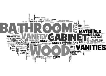 BATHROOM VANITIES ARE THEY WORTH THE MONEY TEXT WORD CLOUD CONCEPT