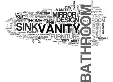 BATHROOM VANITIES LET YOUR POWDER ROOM VANITY REFLECT SHAMELESS GOOD TASTE IN BATH DESIGN TEXT WORD CLOUD CONCEPT