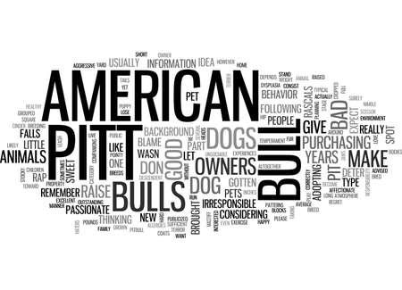 AMERICAN PIT BULL TERRIER IS HET DE JUISTE HOND GEKREGEN VOOR U TEKST WORD CLOUD CONCEPT Stock Illustratie