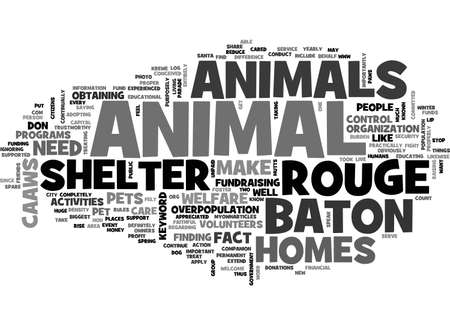 BATON ROUGE ANIMAL SHELTER TEXT WORD CLOUD CONCEPT
