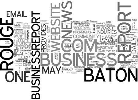 baton rouge: BATON ROUGE BUSINESS REPORT TEXT WORD CLOUD CONCEPT Illustration