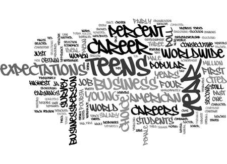 cited: AMERICAN TEENS STILL MEAN BUSINESS TEXT WORD CLOUD CONCEPT